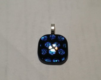 Honeycomb Pattern Dichroic Glass Pendant