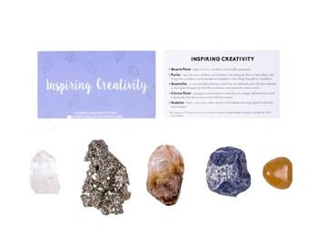 Creativity Crystal Set / Crystals For Creativity / Inspiration Healing Crystals / Inspiring Crystals / Crystals For Creativity / Stones