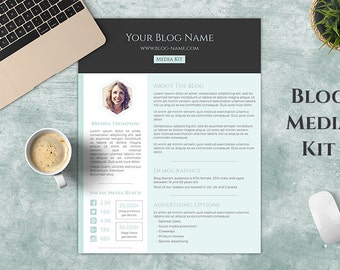 One Page Blog Media Kit for Word, Press Kit Template, The Honeycomb Media Kit | Instant Download