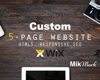Wix website |  Custom website design, 5-page | Landing page | HTML5 SEO responsive website