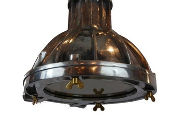 Nautical Pendant Light Aluminum Vintage