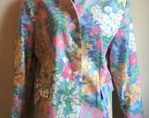 Vintage Orvis Women's Floral Top