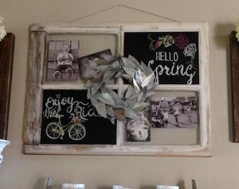 Chalkboard Barn Window