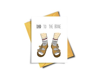 Funny Father's Day Card Printable - Father's Day Card Funny Socks And Sandals - Printable Card For Dad - Fathers Day Card