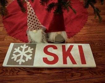 Wood Ski Sign