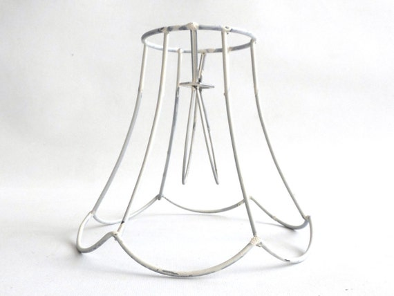 clip on lamp shade frame wire frame authentic vintage small