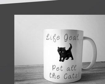Cute cat Coffee mug, ceramic mug, cat lover mug