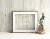 Styled Stock Photography, Product Background Mockup , old wood scene, Vintage scene mockup, styled gold frame