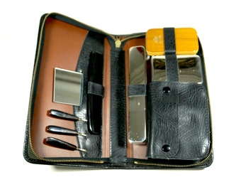 Toiletry Bag for Men, Mens Toiletry Bag, Mens Travel Kit, Vintage Toiletry Bag, Travel Grooming Kit, Leather Toiletry Bag, Travel kit