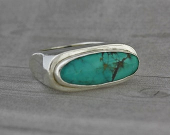 Turquoise Sterling Silver Ring -Turquoise Jewelry