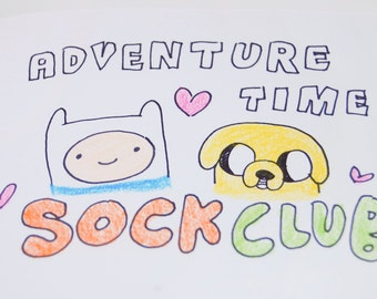 Adventure Time 3 Month Sock Club
