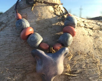 Woodland Fox Necklace with Dreamy Colors