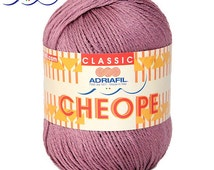 Italian Yarn Adriafil Cheope 50 gram (1.76 ounces) - Cotton Yarn - Summer Yarn - Knitting Yarn - Crochet Yarn - Natural yarn