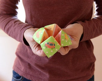 Cootie Catcher, educational game, printable kids gift ,Instant Download, DIY gift, homeschool, kids gift, educational toy, DIY toy,