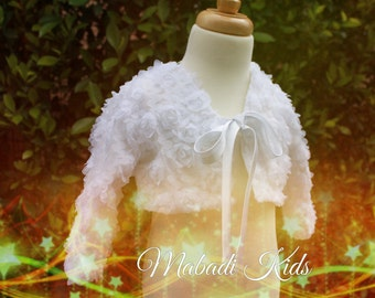 Bolero Jacket, Girls bolero, special oacassion bolero, wedding bolero, first communion bolero,flower girl bolero, flower girl outwear