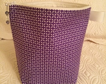 Purple Geometric - Small Project Bag