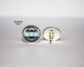 Agents of SHIELD earrings, SHIELD stud earrings, Gamer earrings, Art Gifts, fan gift