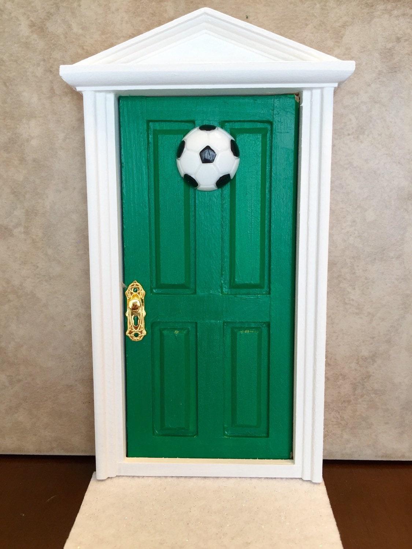 Boys wooden tooth fairy door tooth fairy door green with for Wooden fairy doors that open