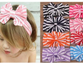 CLEARANCE Striped Baby/ Toddler/ Little Girl Headband (Multiple Colors)