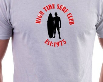 T-shirt with High tide Surfing Club  logo
