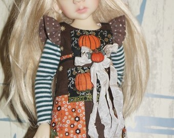 cats  fall  fun dress   By 2SnSb fits Kaye Wiggs MSD size  MIKI,  or layla