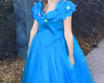Custom Cinderella dress child size 5-6