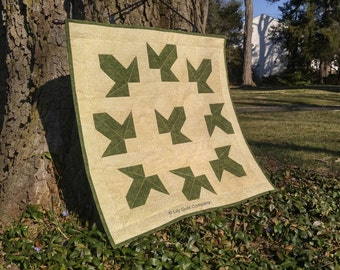 The Leaves of Lorien / The Fellowship of the Ring - The Lord of the Rings - Wall Hanging Quilt