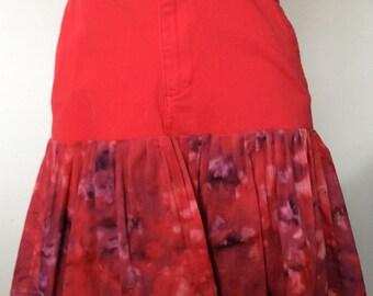 Red & Tie-dye