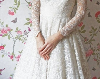 Elsie 1950s Vintage Wedding Dress