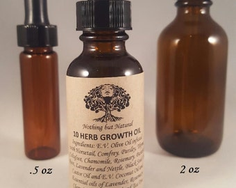 10 HERB Hair Growth Oil