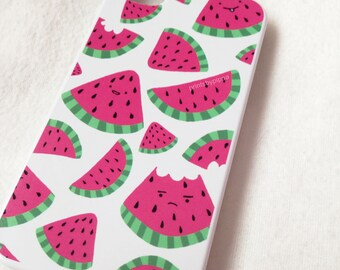 Happy Watermelon Doodle iPhone 4/4S, 5/5S, 6/6S/6 Plus, iPod Touch 5 Case