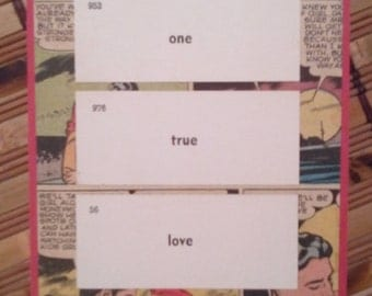 One True Love. Vintage Comic Book Valentine Card.