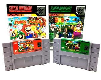 Super Mario/ Super Luwario SNES MultiCart - Up to 12 Total games  SNES Reproduction