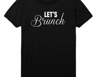 Lets Brunch Womens T-Shirt Boys Tshirt Mens Womens T shirt Top STP101