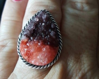 Druzy Ring - size 9.75!