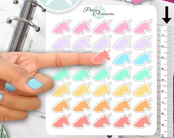 Clear Unicorn Stickers Planner Stickers Erin Condren Live Planner Functional Stickers Decal Sticker 389
