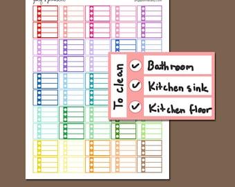 PRINTABLE To Do Half Box Stickers, Printable Half Box Checklist, To Do Checklist stickers, Printable Planner Stickers, Pastel To Do stickers