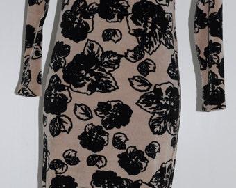 Sonia Rykiel vintage 80s velvet dress Size 38-40 FR