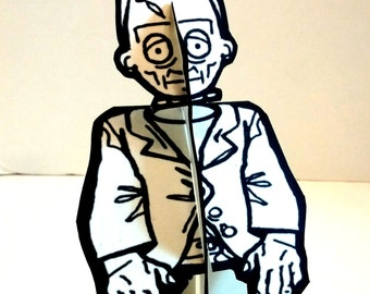 Frankenstein Monster Paper Figure - Printable Toy