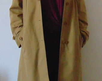 Vintage Mustard Loose Fit Cotton Coat from 80s