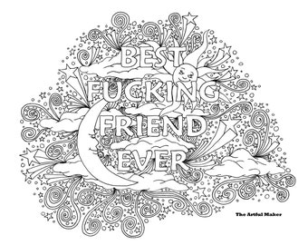 Fucking Etsy Best Friend Coloring Pages