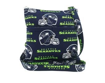 Seattle Seahawks Crossbody Bag // Sling Bag // Crossbody Purse // Shoulder Bag // Hipster // NFL