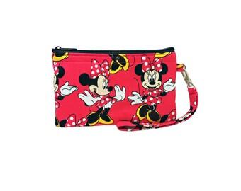 Minnie Mouse Print Wristlet // Clutch // Wallet // Disney