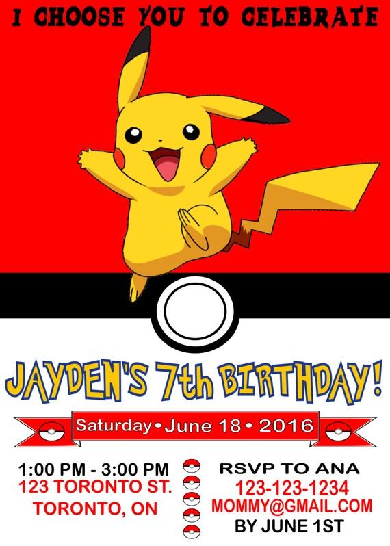 Pokemon Party Invitations as great invitation layout