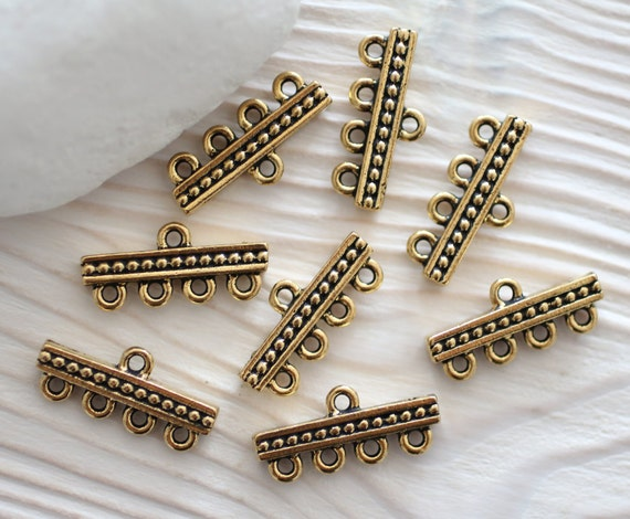 Pc antique gold jewelry connector multi by eastvillagesupply