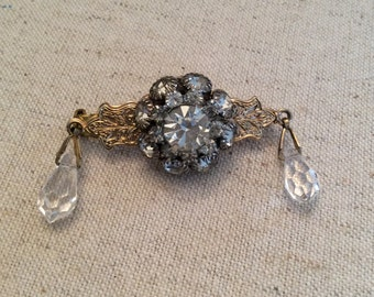 Victorian Crystal Drop Pin