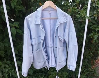 90s Light Wash Denim Jacket