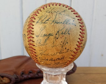 Vintage 1940s Signed Baseball, Detroit Tigers, Detroit Sports, Tigers Baseball, Vintage Baseball, Signature Collection