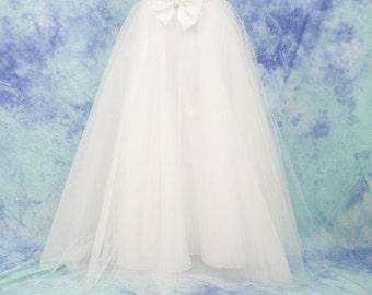 Long tulle skirt PROMO, wedding skirt, tulle skirt bridesmaid, Wedding dresses, wedding dress, white tulle skirt