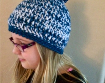 Crochet twisted beanie/hat